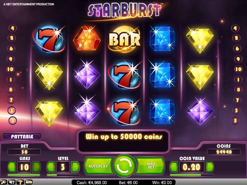 starburst freespins